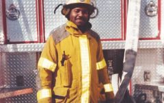 Mr. Green in his old firefighter outfit.