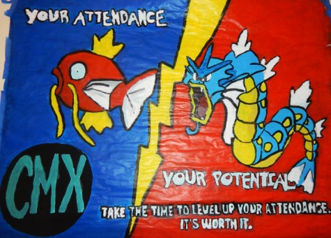 Banner made by Cinematics club.
