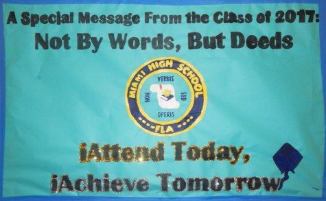 Banner made by Class of 2017