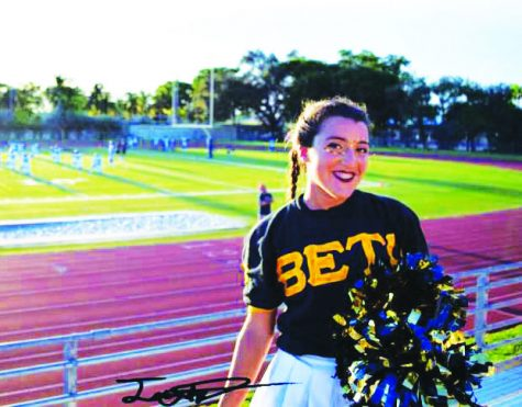 Daymee shows her BETA pride at the Club Pride game on Friday, September 16th, 2016.