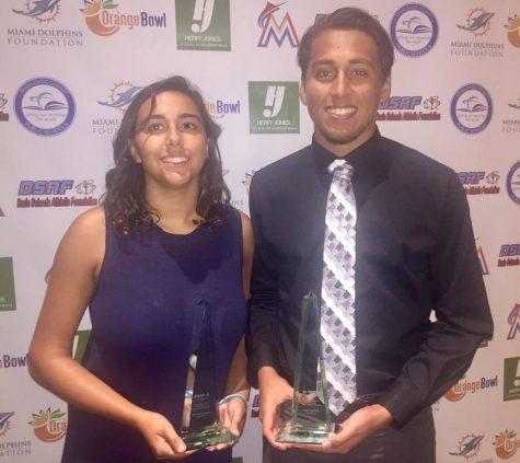 Seniors Olvin Villatoro and Guervens Jean Win Student-Athlete Scholarship Awards
