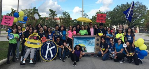 Key Club at the 2017 Homecoming Parade, whose theme was