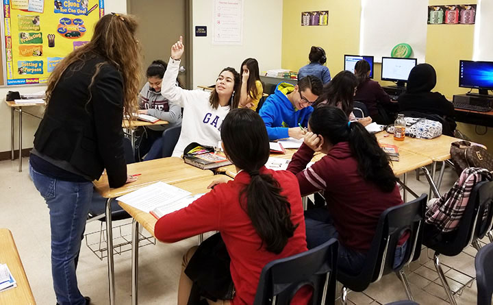 Esol+students+participating+with+enthusiasm+in+class.