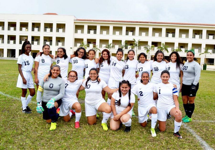 The Girls Soccer Team