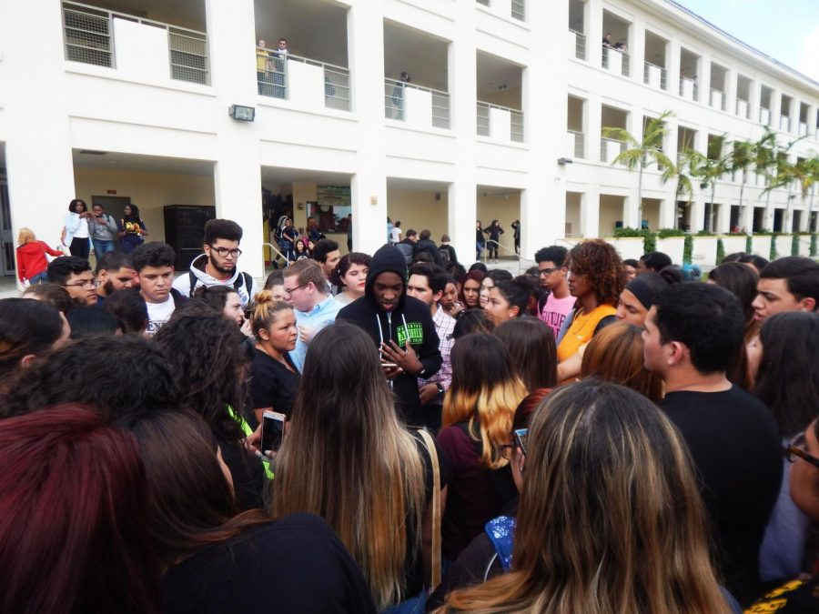 MIAMI HIGH HOSTS VIGIL FOR VICTIMS OF PARKLAND SHOOTING
