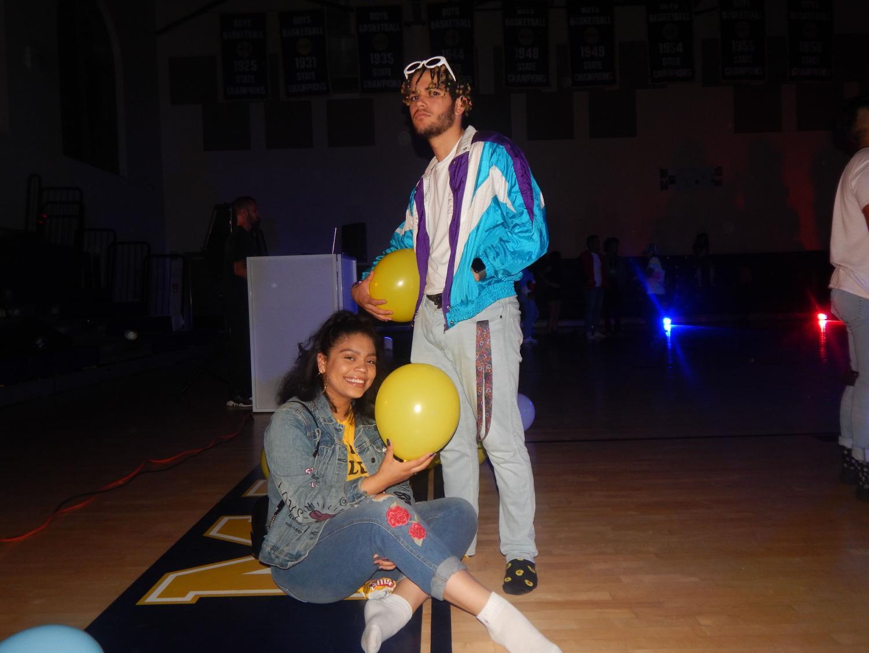 Senior Monica Espinoza and Victor Fernandez enjoying their last school event together.