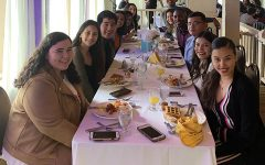 Senior Class Officers enjoyed the fruits of their labor at the Senior Breakfast.