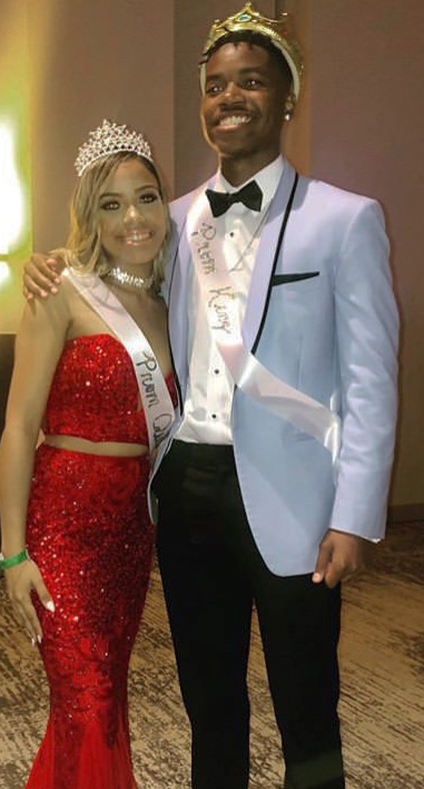 Seniors+Christopher+Ortiz+and+Melany+Patterson+were+more+than+elated+to+be+crowned+Prom+King+and+Queen%2C+at+the+end+of+the+night.