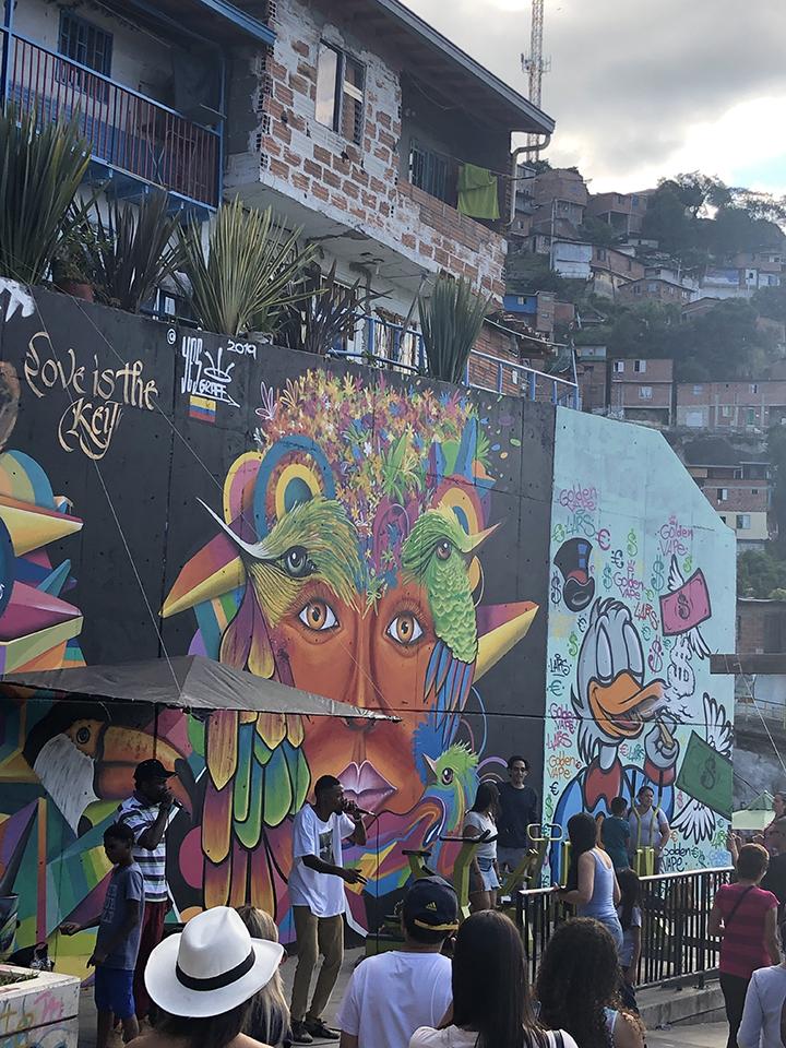 Art is now flourishing in the poor neighborhood of Comuna 13.
