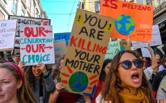 On March 15, 2019 students joined a #FridaysForFuture event outside the Houses of Parliament in London, England. This event was started by 17 year old Greta Thunberg, an environmental activist who would skip school to protest on Fridays.