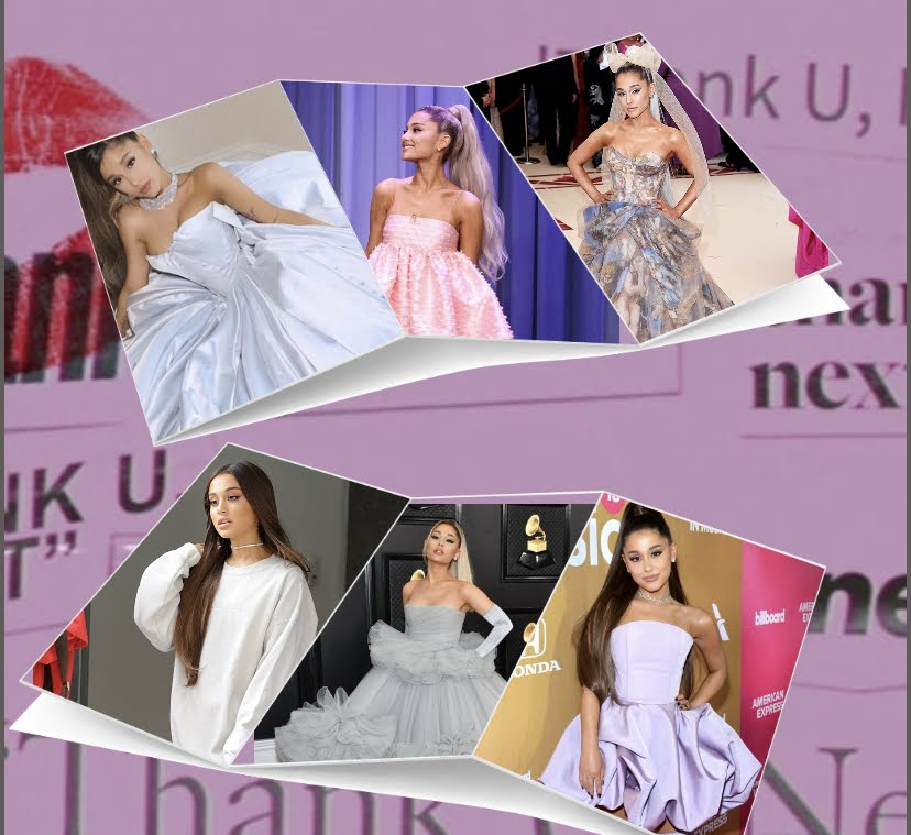 Ariana Grande with 6 of her best looks. (Collage by Basil Morales)