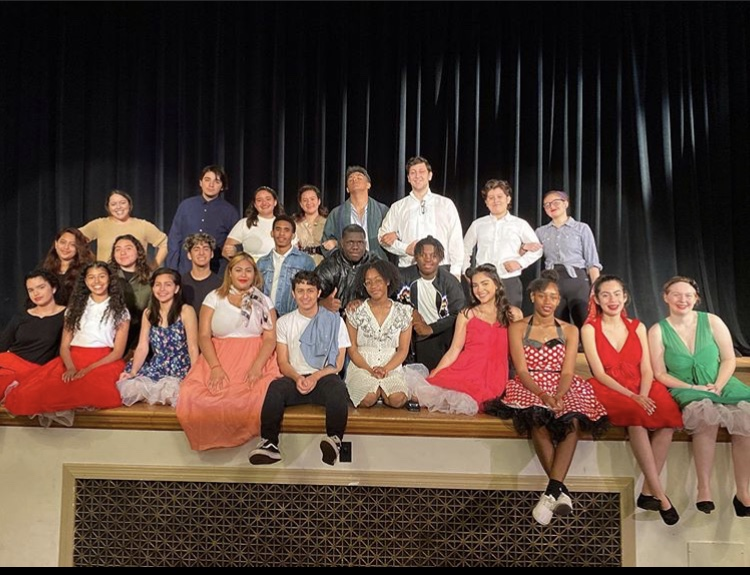 Thespians hosting the Black History Month showcase.