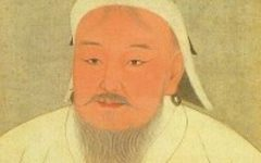 Genghis Khan as portrayed in a 14th-century Yuan era album; now located in the National Palace Museum, Taipei, Taiwan. The original version was in black and white.  (Source: https://en.m.wikipedia.org/wiki/Genghis_Khan)