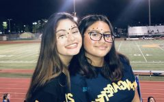 Danelia Nunez and Adriana Cristales at the 2019 Homecoming Game.