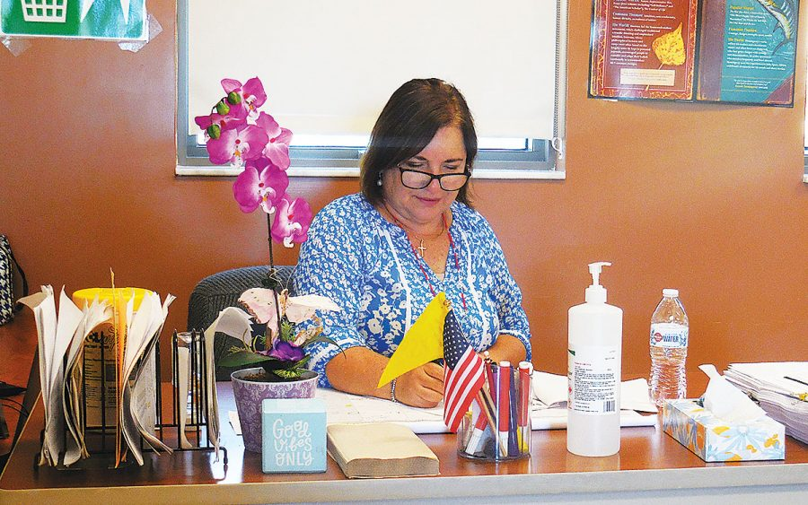 "Ms. Garcia enjoys teaching as she ""love[s] to help other in all ways- academically and spiritually,"" she said."