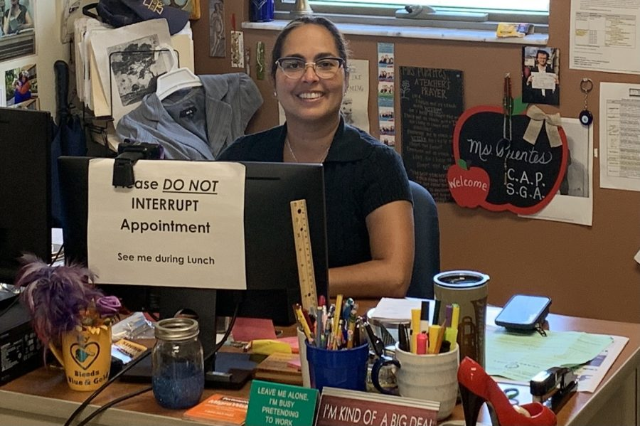 CAP Advisor Ms. Puentes tries to meet with 5 students per class period, 4 periods per day, 5 days per week--that does not include all the work she does after school.