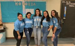 Math department chairperson Ms. Y. Garcia (center) leads Honoria, a club she first joined as a Miami High student.